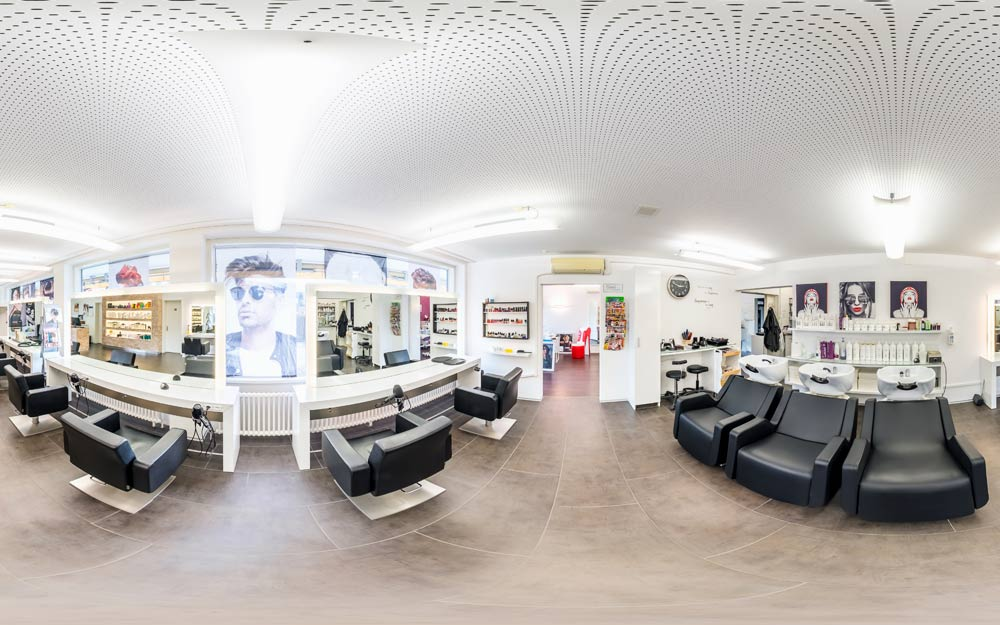 360° virtuelle Tour durch einen Coiffeur Salon