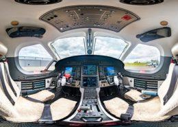 360° virtuelle Tour durch ein Cockpit einer PC-12
